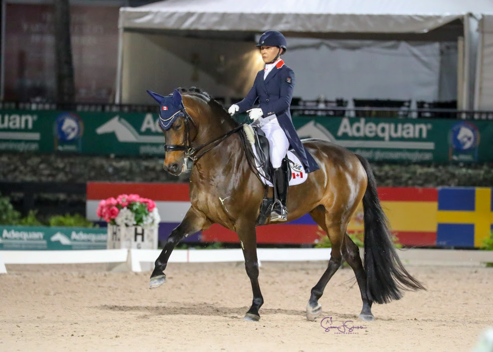 Tina Irwin and Laurencio - Dressage Nations Cup
